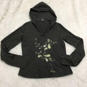 Prana green hoodie sweater